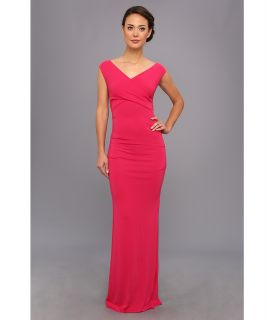 Nicole Miller Tess Stretch Jersey Gown Womens Dress (Pink)