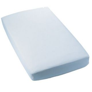 Secure Fitting Baby Blue Crib Sheet   Set of 2