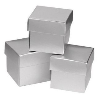 Silver Shimmer Mix & Match Favor Boxes   25ct