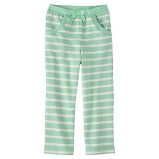 Genuine Kids from OshKosh Infant Toddler Girls Stripe Lounge Pant   Green 18 M