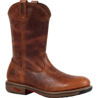 Rocky Ride 11In. Waterproof Western Boot   Palomino, Size 9 1/2, Model 4181