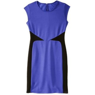 Mossimo Womens Colorblock Scuba Dress   Blue XXL