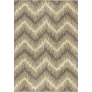 Threshold Chevron Ikat Fleece Area Rug   Beige (5x7)
