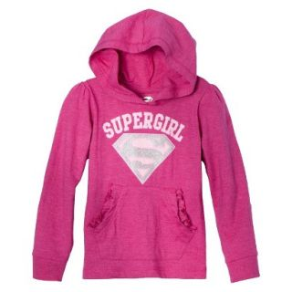 Supergirl Infant Toddler Girls Long Sleeve Hooded Tee   Pink 2T