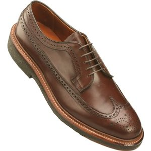 Alden Mens Long Wing All Weather Walker Calfskin Dark Brown Smooth Shoes, Size 9.5 D   97720