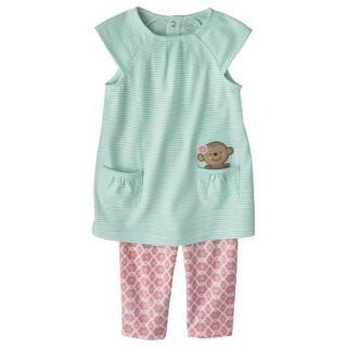 Just One YouMade by Carters Toddler Girls 2 Piece Set   Light Blue/Pink 3T