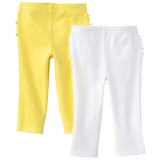 Just One YouMade by Carters Newborn Girls 2 Pack Pant   Yellow/White 3 M