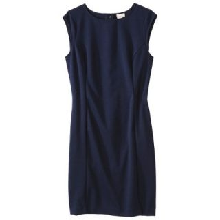 Merona Womens Ponte Sheath Dress   Xavier Navy   M