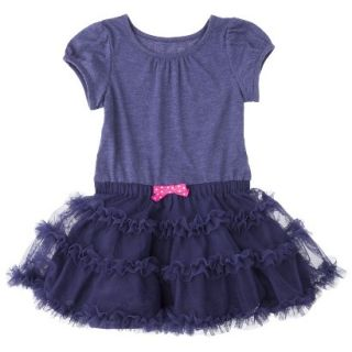 Cherokee Infant Toddler Girls Tutu Dress   Nightfall Blue 4T