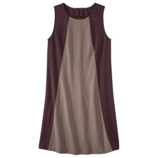 Mossimo Womens Colorblock Shift Dress   Berry/Timber XL