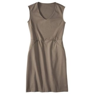 Mossimo Womens Ponte Sleeveless Dress w/ Zippered Pockets   Timber L