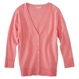 Merona Womens Ultimate 3/4 Sleeve Crew Neck Cardigan   Moxie Peach   S