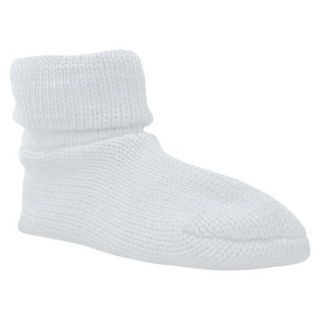 Womens MUK LUKS Cuff Slipper Sock W/ Anti Skid   White