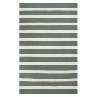 Stripe Flat Weave Area Rug   Green (5x8)