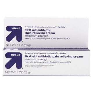 up&up First Aid Antibiotic Pain Relieving Cream   1.0 oz