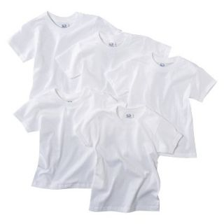 Fruit Of The Loom Boys 5 pack Crew Neck Short Sleeve Tees   White L(10 12)