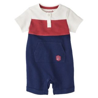 Genuine Kids from OshKosh Newborn Boys Romper   Red/White/Blue 12 M