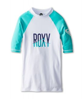 Roxy Kids Roxy Wave S/S Surf Shirt Girls Swimwear (White)