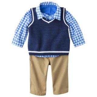 Genuine Kids from OshKosh Newborn Boys Top and Bottom Set   Navy 12