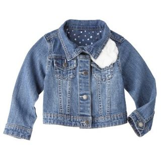 Genuine Kids from OshKosh Infant Toddler Girls Jeans Jacket   Apollo Blue 12 M