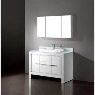 Madeli Vicenza 48 Bathroom Vanity   Glossy White
