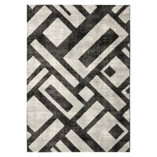 Safavieh Geometric Blocks Area Rug   Black/Gray (53x77)