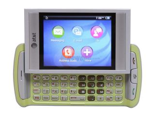 AT&T Quickfire Green 3G Unlocked GSM Smart Phone w/ Full QWERTY Keyboard / GPS (GTX75)