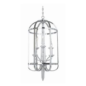 Hampton Bay Senze Collection 6 Light Chrome Lantern 20316 020