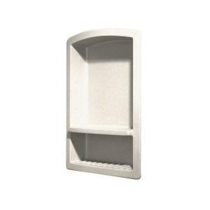 Swanstone Recessed Wall Mount Solid Surface Soap Dish and Accessory Shelf in Babys Breath RS 2215 168