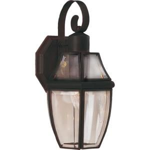 Filament Design Infinite Wall Mount 1 Light Outdoor Burnished Bronze Incandescent Lantern HD MA4676419