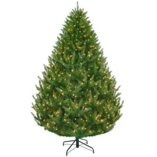 Martha Stewart Living 7.5 ft. Feel Real Artificial California Cedar Christmas Tree with Clear Ready Lit Lights PECF10 309E 75X