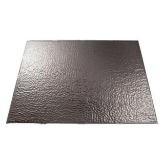 Fasade 4 ft. x 8 ft. Hammered Brushed Nickel Wall Panel S55 29