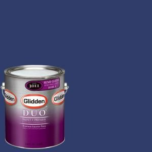 Glidden Team Colors 1 gal. #NFL 091A NFL New York Giants Dark Blue Semi Gloss Interior Paint and Primer NFL 091A SG 01