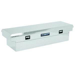 Lund 63 in. Mid Size Single Lid Aluminum Beveled Low Profile Cross Bed Truck Tool Box LALF568BLP
