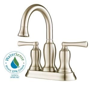 Pfister Lindosa 4 in. 2 Handle High Arc Bathroom Faucet in Brushed Nickel F 043 LDKK