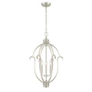 Hampton Bay Sherwood 3 Light Hanging Steel Brushed Nickel Pendant HB3432 35