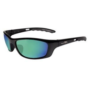 Wiley X P17 P 17 Polarized Sunglasses with Smoke Green Lens and Gloss Black Frame DISCONTINUED 45230020