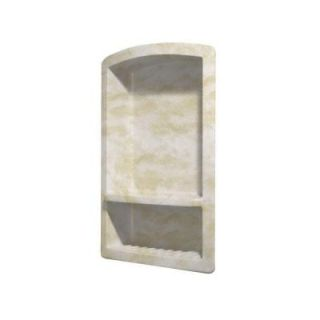 Swanstone Recessed Wall Mount Solid Surface Soap Dish and Accessory Shelf in Cloud White RS 2215 125