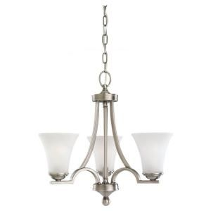 Sea Gull Lighting Somerton 3 Light Antique Brushed Nickel Single Tier Chandelier 31375 965