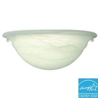 Hampton Bay 1 Light White Wall Sconce EW165MAB