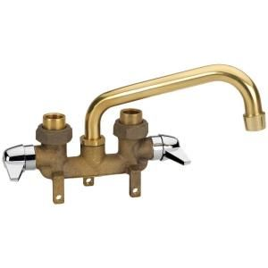 Homewerks Worldwide 2 Handle Laundry Tray Faucet in Rough Brass 3310 250 RB B