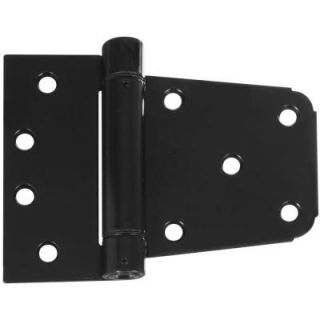 National Hardware 3 1/2 in. Black Heavy Duty Auto Close Gate Hinge Set V278 3 1/2 SPR GT HG BLK