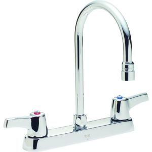 Delta Commercial 2 Handle Kitchen Faucet in Chrome with High Arc Spout 26T3943