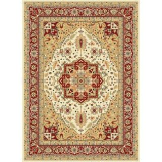 Safavieh Lyndhurst Ivory/Red 8.9 ft. x 12 ft. Area Rug LNH330A 9