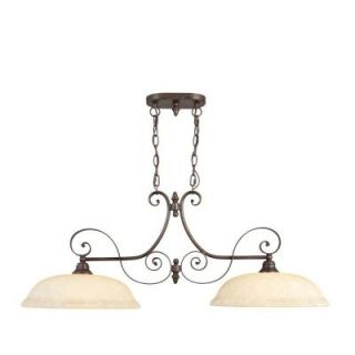 Filament Design Providence 2 Light 16.5 in. Imperial Bronze Finish Vintage Scavo Glass Island Light CLI MEN6152 58