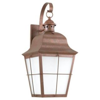 Sea Gull Lighting Chatham Wall Mount 1 Light Outdoor Weathered Copper Fixture 89273BLE 44