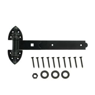 Everbilt 12 in. Black Extra Heavy Duty Tee Hinge 20484