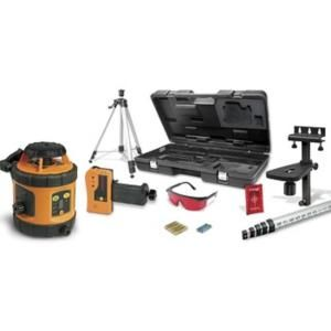 Johnson Self Leveling Rotary Laser Kit 800 ft. Range Indoor/Outdoor with Tripod, Grade Rod, Detector, Mount, Glasses, Case 40 6517