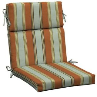 Hampton Bay Fontina Stripe High Back Outdoor Chair Cushion AD20062B 9D1