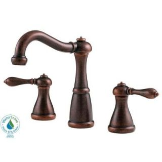 Pfister Marielle 8 in. Widespread 2 Handle High Arc Bathroom Faucet in Rustic Bronze GT49 M0BU